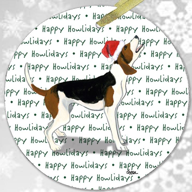 "Treeing Walker Coonhound ""Happy Howlidays"" Ornament"
