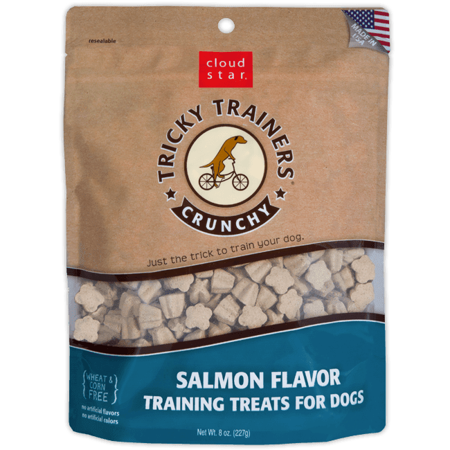 Crunchy Tricky Trainers Dog Treats - Salmon Flavor