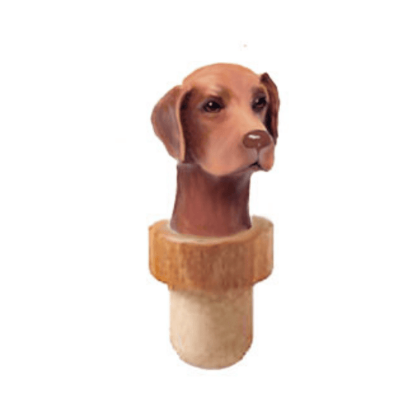 Vizsla Head Cork Bottle Stopper