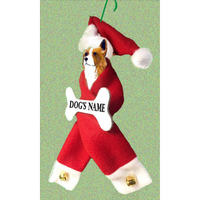 Pembroke Welsh Corgi Santa Bone Ornament