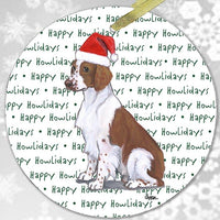 "Welsh Springer Spaniel ""Happy Howlidays"" Ornament"
