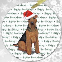 "Welsh Terrier ""Happy Howlidays"" Ornament"