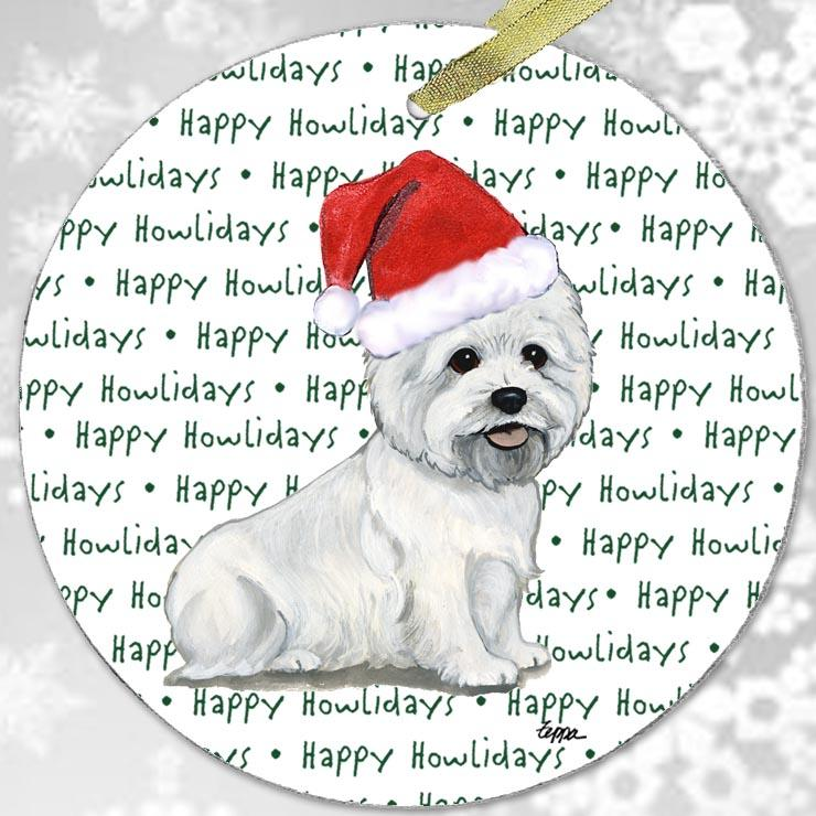 "West Highland White Terrier ""Happy Howlidays"" Ornament"