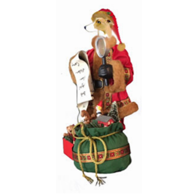 Whippet Toy List Santa Statue