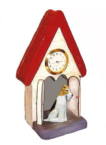 Wire Fox Terrier Figurine Clock