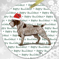 "Wirehaired Pointing Griffon ""Happy Howlidays"" Ornament"