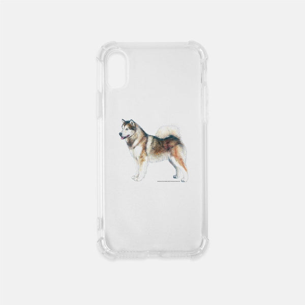 Alaskan Malamute Clear Phone Case