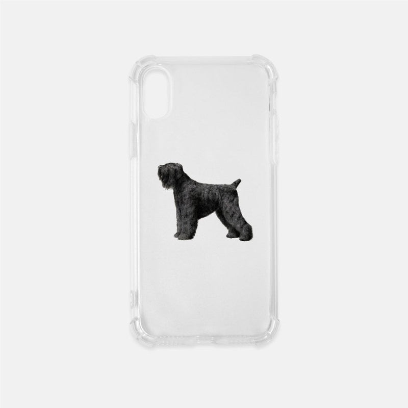 Black Russian Terrier Clear Phone Case