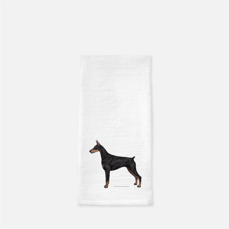 Doberman Pinscher Tea Towel