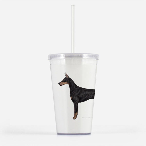Doberman Pinscher Beverage Tumbler