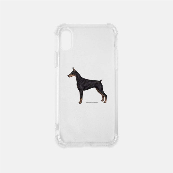 Doberman Pinscher Clear Phone Case