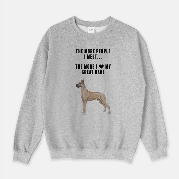 Great Dane Love Unisex Crew Neck Sweatshirt