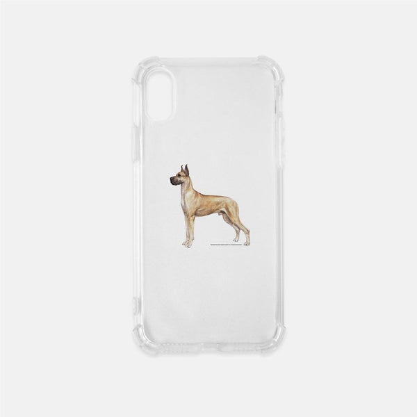Great Dane Clear Phone Case