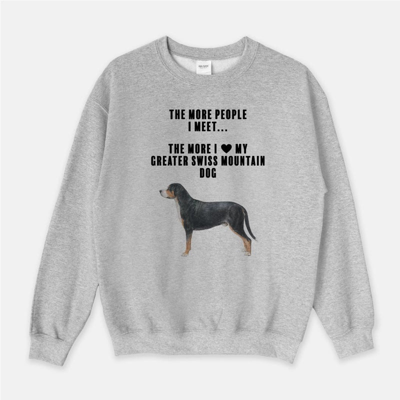 Greater Swiss Mountain Dog Love Unisex Crew Neck Sweatshirt
