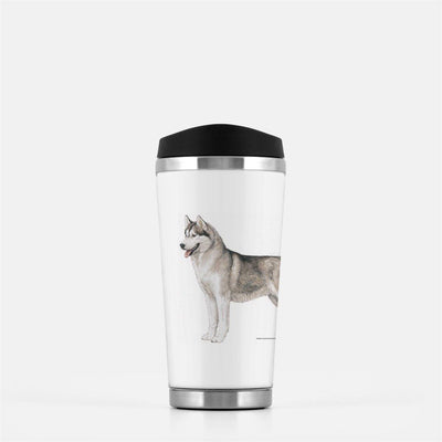 Siberian Husky Travel Mug