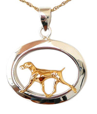 Weimaraner Sterling & 14k Gold Jewelry