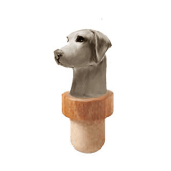 Weimaraner Head Cork Bottle Stopper