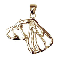 Welsh Springer Spaniel 14K Gold Cut Out Pendant