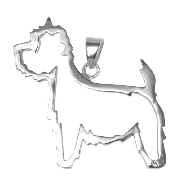 West Highland White Terrier Sterling Silver Cut Out Pendant