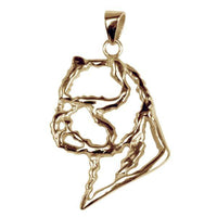 West Highland White Terrier 14K Gold Cut Out Pendant