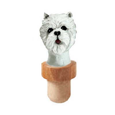 West Highland White Terrier Head Cork Bottle Stopper