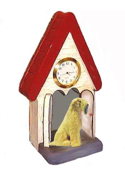 Soft Coated Wheaten Terrier Figurine Clock