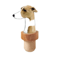Whippet Head Cork Bottle Stopper