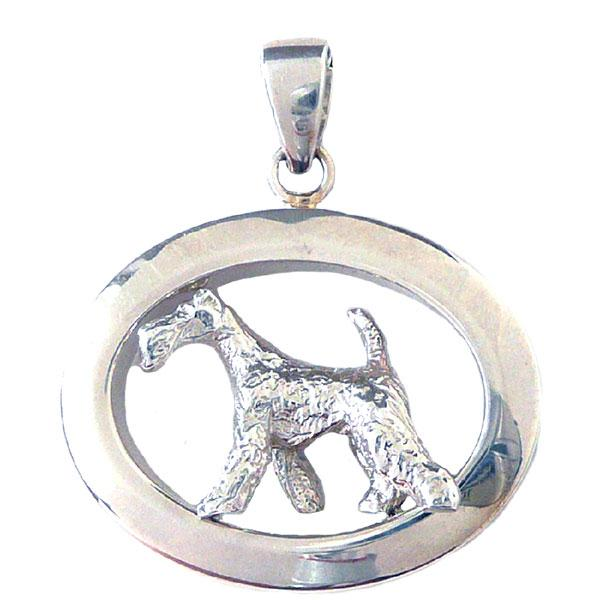 Wire Fox Terrier Oval Jewelry