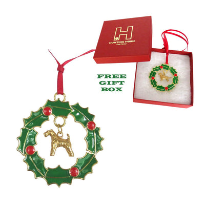 Airedale Terrier Wreath Ornament