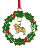 Australian Shepherd Wreath Ornament