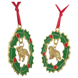 Great Pyrenees Wreath Ornament