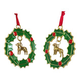 Labrador Retriever Wreath Ornament
