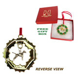 Vizsla Wreath Ornament