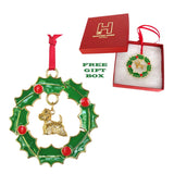 West Highland White Terrier Wreath Ornament