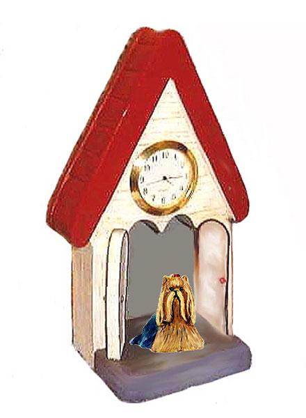 Yorkshire Terrier Figurine Clock