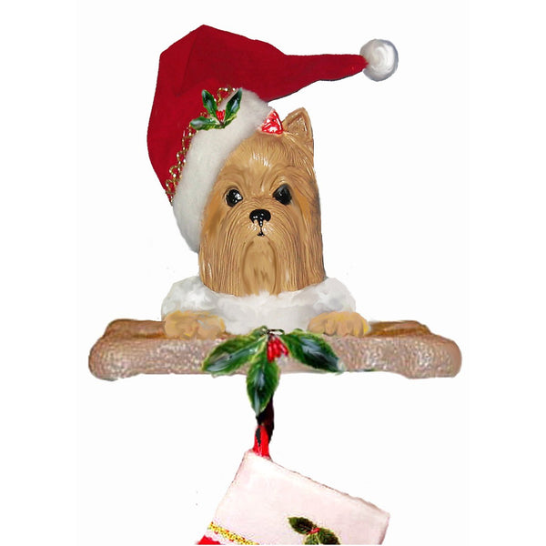 Yorkshire Terrier Santa Stocking Holder
