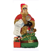 Yorkshire Terrier Toy List Santa Statue