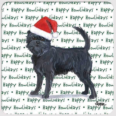 "Affenpinscher ""Happy Howlidays"" Coaster"