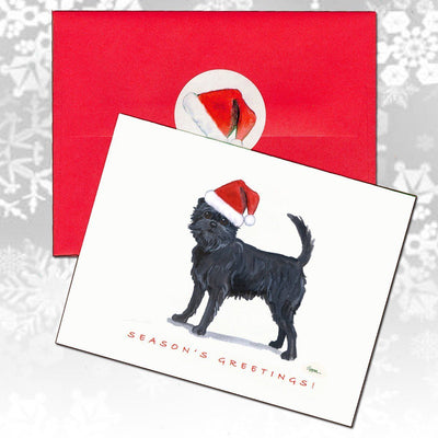 Affenpinscher Christmas Note Cards