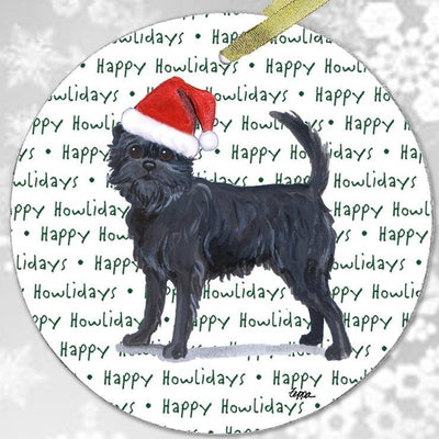 "Affenpinscher ""Happy Howlidays"" Ornament"