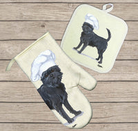 Affenpinscher Oven Mitt and Pot Holder
