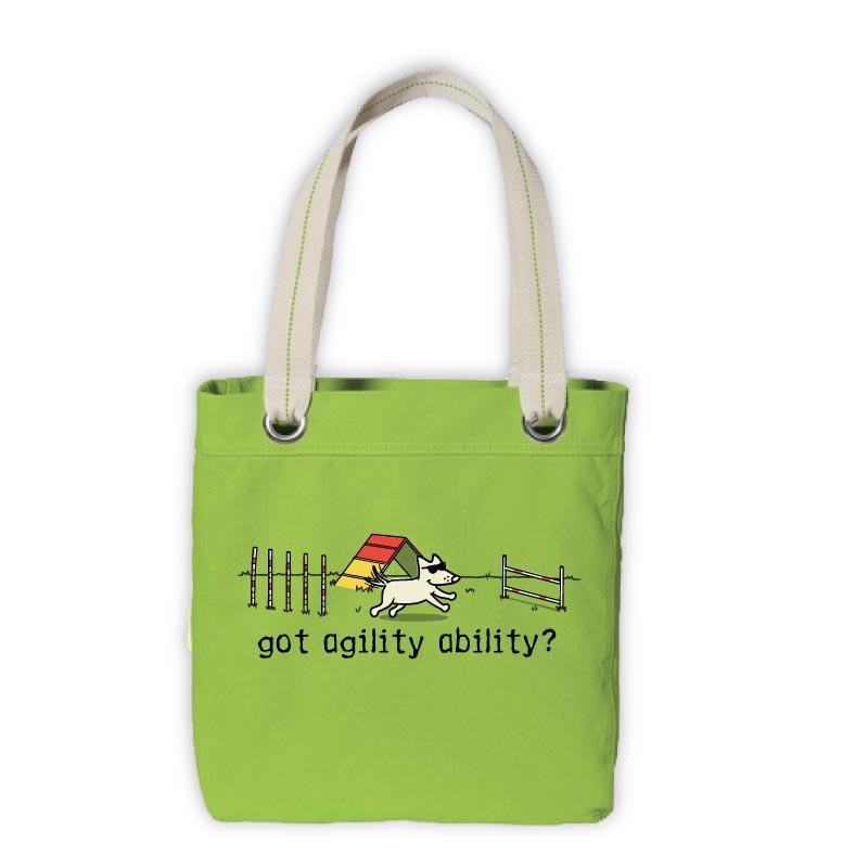 Teddy's Agility Ability Canvas Tote