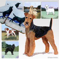 Airedale Terrier Scenic Coaster