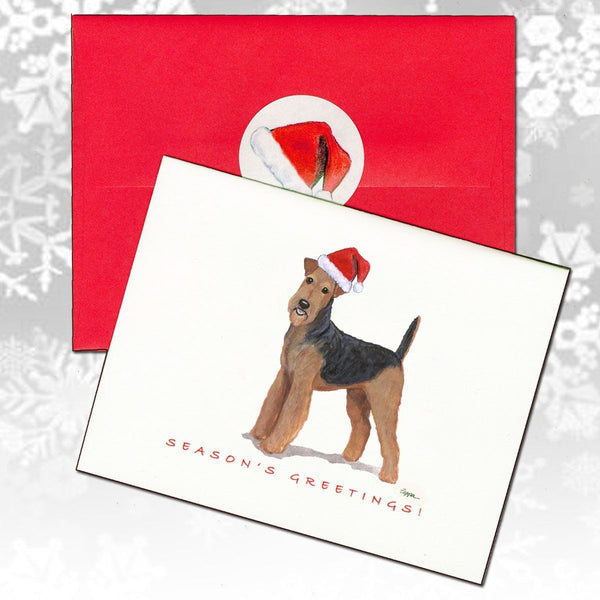 Airedale Terrier Christmas Note Cards