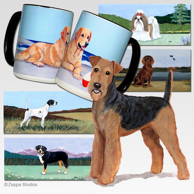 Airedale Terrier Scenic Mug