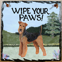 Airedale Terrier Slate Sign
