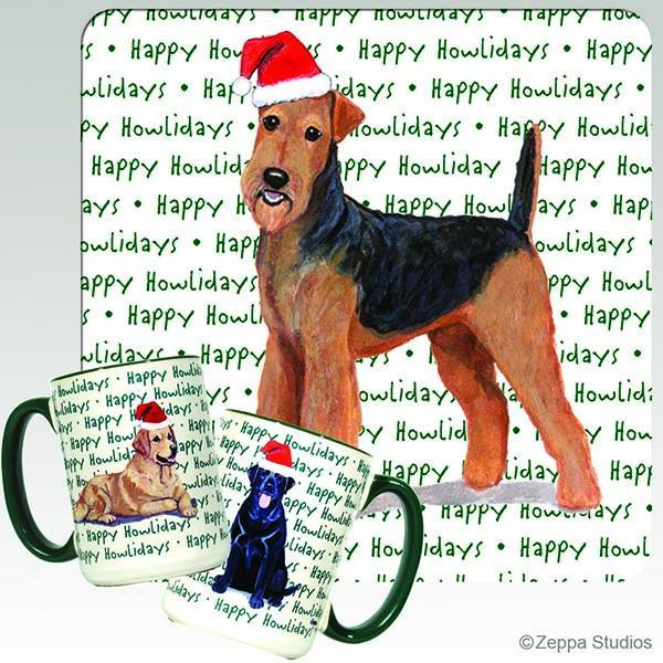 Airedale Terrier Holiday Mug