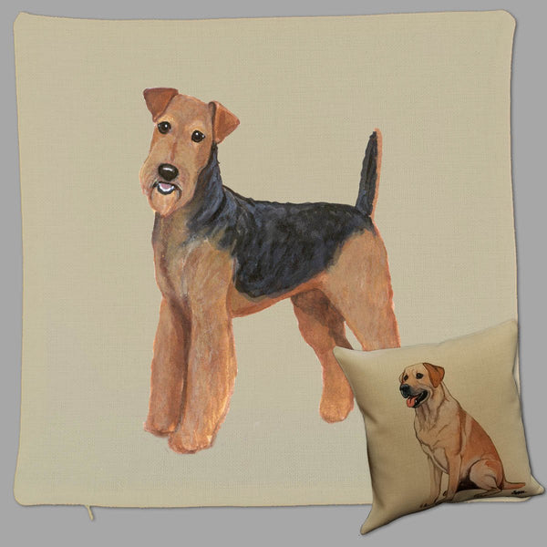Airedale Terrier Pillow Cover