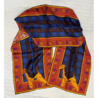 Airedale Terrier Oblong Silk Scarf