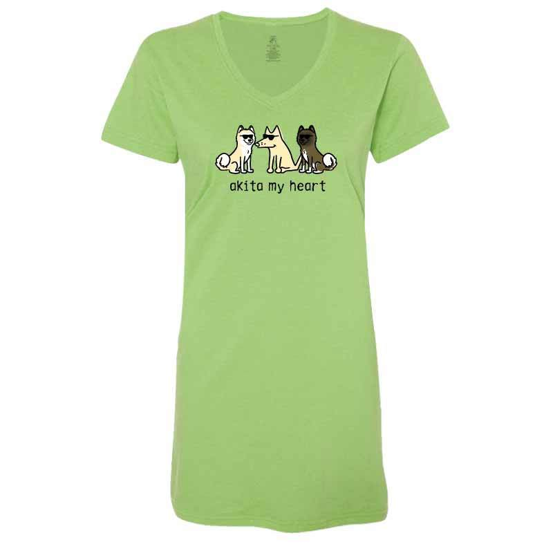 Akita My Heart - Ladies Night T-Shirt